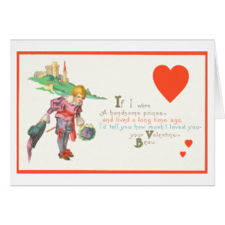 Gay Valentine Prince Greeting Card