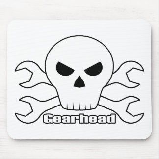 Gearhead Skull Mouse Pad