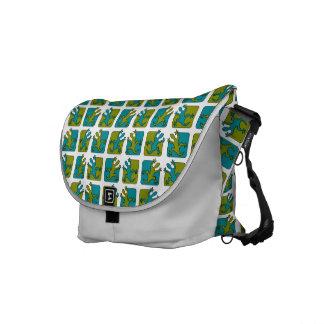 Gecko / Lizard Pattern messenger bag