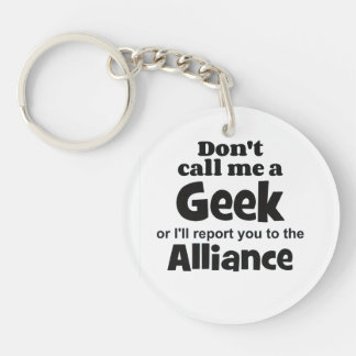 Geek Alliance bf Single-Sided Round Acrylic Key Ring