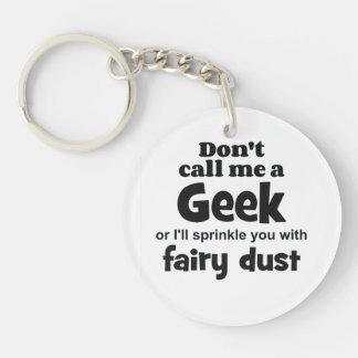 Geek fairy dust bf Single-Sided round acrylic key ring