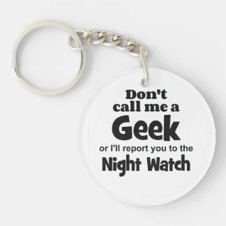 Geek Night Watch bf Single-Sided Round Acrylic Key Ring