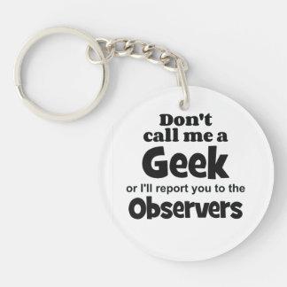 Geek Observers bf Single-Sided Round Acrylic Key Ring