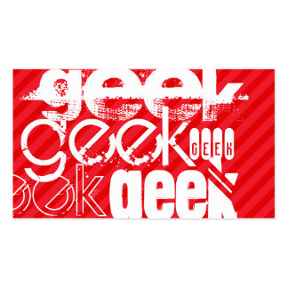 Geek; Scarlet Red Stripes Pack Of Standard Business Cards