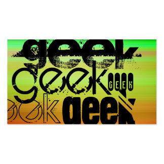 Geek; Vibrant Green, Orange, & Yellow Pack Of Standard Business Cards