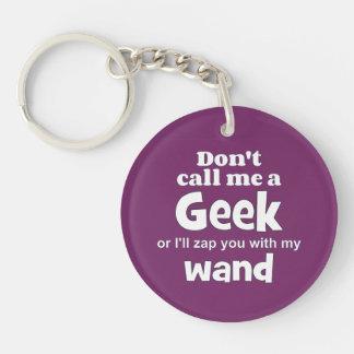Geek wand wf Single-Sided round acrylic key ring
