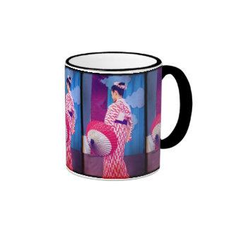 Geisha Dance Ringer Mug