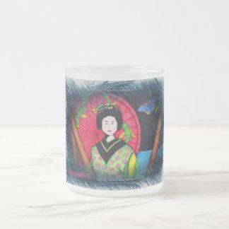Geisha Frosted Glass Mug
