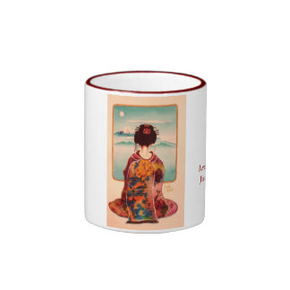 Geisha view ringer mug