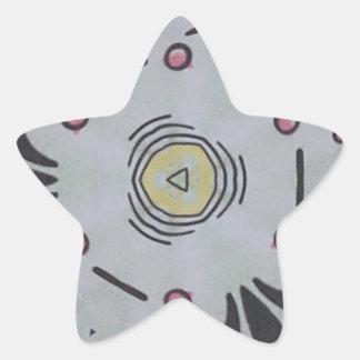 Gender Nuetral Graphic Artistic Pattern Star Sticker