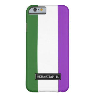 Gender Queer Pride Flag Barely There iPhone 6 Case