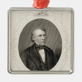 General Zachary Taylor Silver-Colored Square Decoration