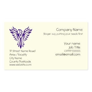 Generic Phoenix Rising from Ashes - Purple Pack Of Standard Business Cards