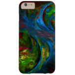 Genesis Blue Abstract Art Barely There iPhone 6 Plus Case