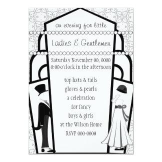 Gentlemen and Ladies 13 Cm X 18 Cm Invitation Card