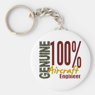 Genuine Aircraft Engineer Basic Round Button Key Ring