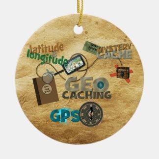 Geocache Fever - Customize Round Ceramic Decoration
