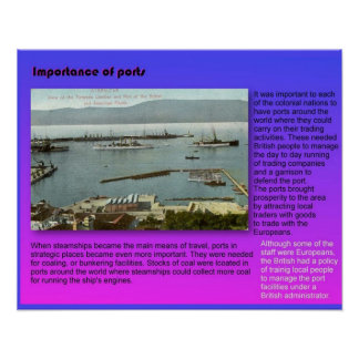 Geography, Importance of ports Poster