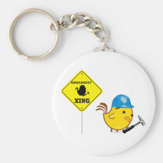 Geologist Xing Basic Round Button Key Ring