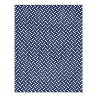 geometric30 NAVY BLUE STEEL GREY SILVER TIRE TRACK 21.5 Cm X 28 Cm Flyer