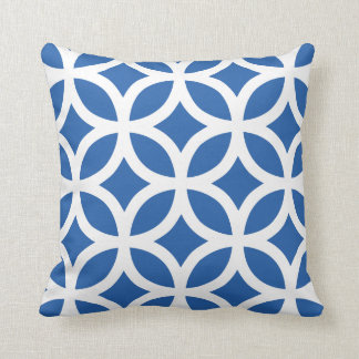 Geometric Pattern Pillow in Cobalt Blue Cushions