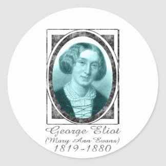 George Eliot Round Sticker