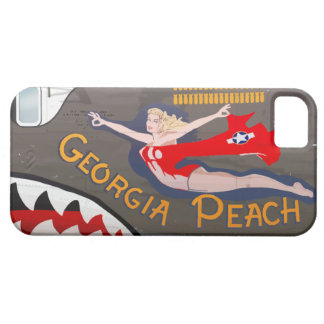 Georgia Peach B-24 Nose Art (Vintage Fuselage) Case For The iPhone 5