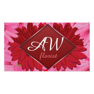Gerbera floral pattern. Foiled frame. Monogramm Pack Of Standard Business Cards