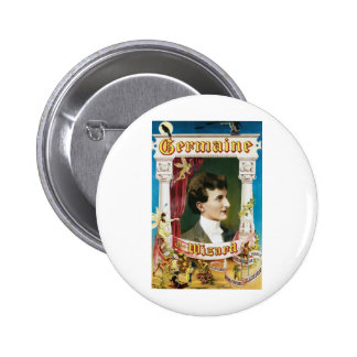 Germaine The Wizard ~ Magician Vintage Magic Act 6 Cm Round Badge