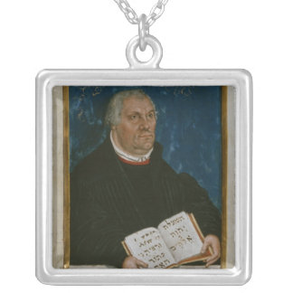 German Bible of Luther's Translation, 1561 Square Pendant Necklace