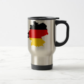 German Flag Map Stainless Steel Travel Mug
