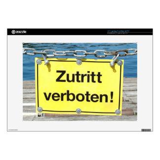 """German """"No Entry"""" Sign - Laptop Skin"""