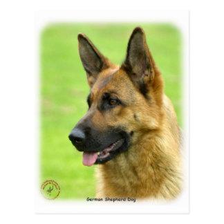 German Shepherd Dog 9B50D-20 Postcard