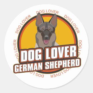 German Shepherd Dog Lover Round Sticker