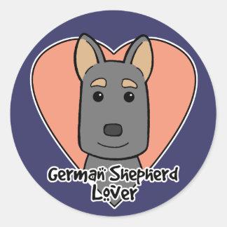 German Shepherd Lover Round Sticker