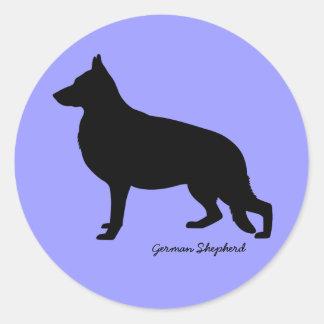 German Shepherd Round Sticker