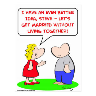get married without living together postcard