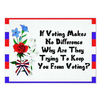 GET OUT THE VOTE 13 CM X 18 CM INVITATION CARD