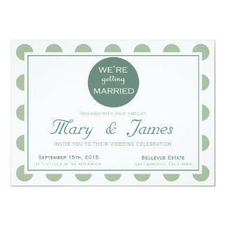 """GETTING MARRIED"" TONDO (blue horizontal) 13 Cm X 18 Cm Invitation Card"