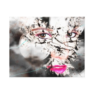 GETTING THROUGH CREATIVE ART STRETCHED CANVAS PRINT