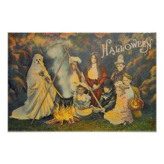 Ghost Cowboy Costume Jack O Lantern Pumpkin Photo Art