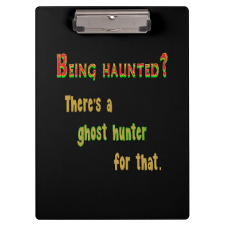 Ghost Hunter App For That (Black Background) Clipboards
