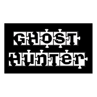 Ghost Hunters Puzzle Pcs  black business cards