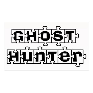 Ghost Hunters Puzzle Pcs business cards