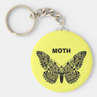 Ghost moth basic round button key ring