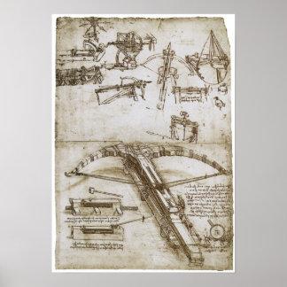 Giant Crossbow on Wheels, Leonardo da Vinci Poster