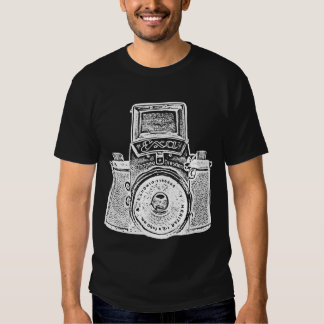 Giant East German Camera - White Negative Effect T-shirts