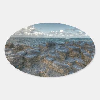 Giant's Causeway, Northern Ireland Oval Sticker
