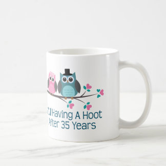 Gift For 35th Wedding Anniversary Hoot Basic White Mug