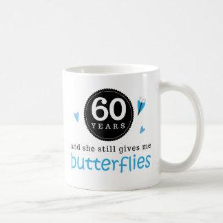 Gift For 60th Wedding Anniversary Butterfly Basic White Mug